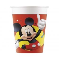 Kubeczki papierowe Mickey Mause czerwone 200ml 8szt