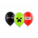 Balony Premium Piksele mix kolorów 12cali 30cm 6szt