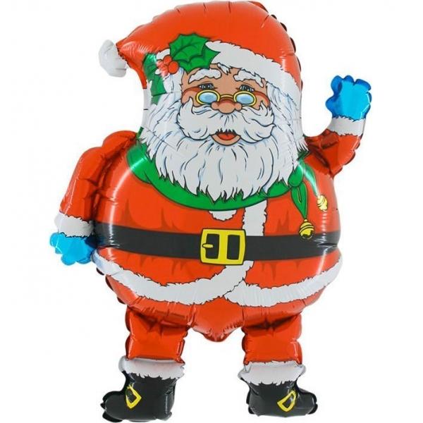 Balon foliowy Mikołaj czerwony 21cali 53cm