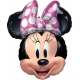 Balon foliowy Myszka Minnie z kokardą