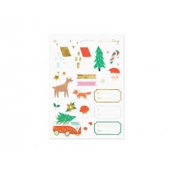 Naklejki  świąteczne Zimowy Las mix wzorów 20szt