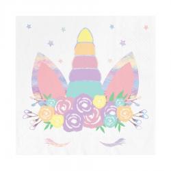 Serwetki papierowe Jednorożec kolorowe 33x33cm