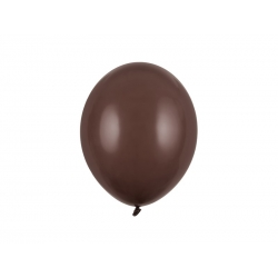Balony pastelowe brązowe 11cali 27cm 10szt Strong