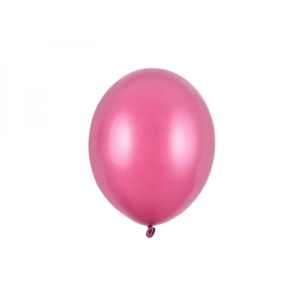 Balony metaliczne różowe ogniste 11cali 27cm 10szt Strong